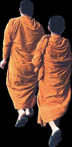 ftestickers monks walk walking peoples freetoedit