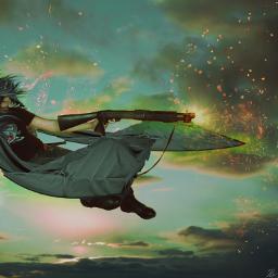 shooting war surreal fantasy art