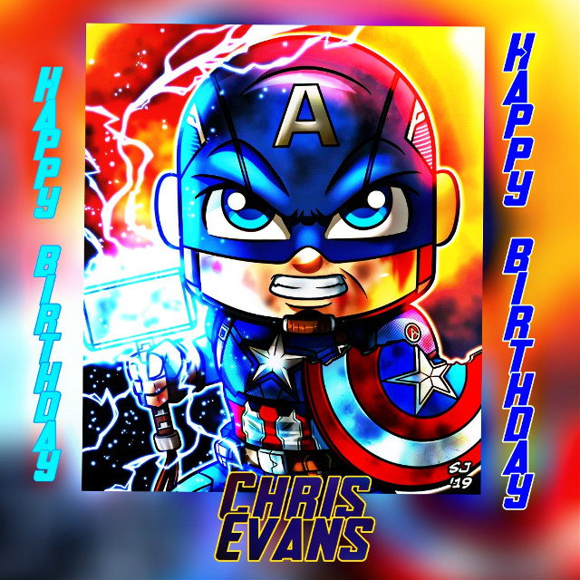 Happy birthday Chris Evans! Fan Art by Stevensondrawings Follow In Instagram! stevensondrawings #happybirthday #happybirthdaychrisevans #captainamerica #chrisevans #mjolnir #avengers #avengersendgame #fanart #hdreffect #marvelstudios #marvelcomics  #freetoedit