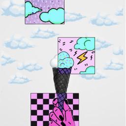 freetoedit cloud drawing icecream illustration ecicecream