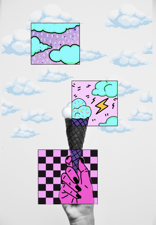 #freetoedit  #cloud #drawing #icecream #illustration #ecicecream