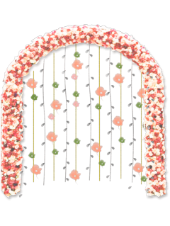 ftestickers flowers arch archway decorative freetoedit
