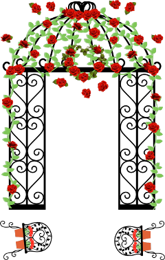 ftestickers clipart flowers gate arch freetoedit