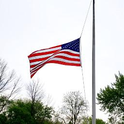 half-staff flag americanflag redwhiteandblue freetoedit pcflagday
