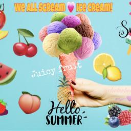 freetoedit ecicecream icecream cone scoops