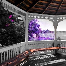 freetoedit window galaxywindow gazebo landscape