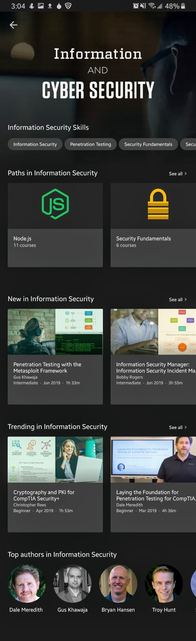 #Cyber Security #Pluralsight