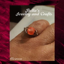 ring glass glassbeads beads handmade