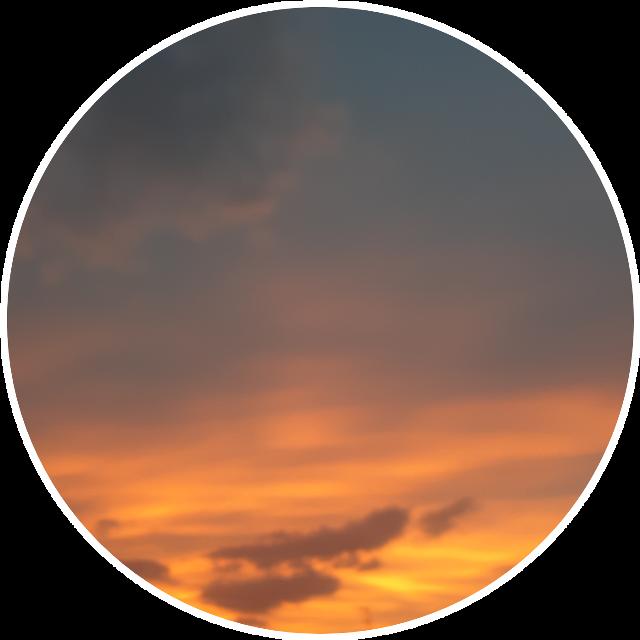 #aesthetic #grunge #clouds #orange #blue #circle #sky #pic