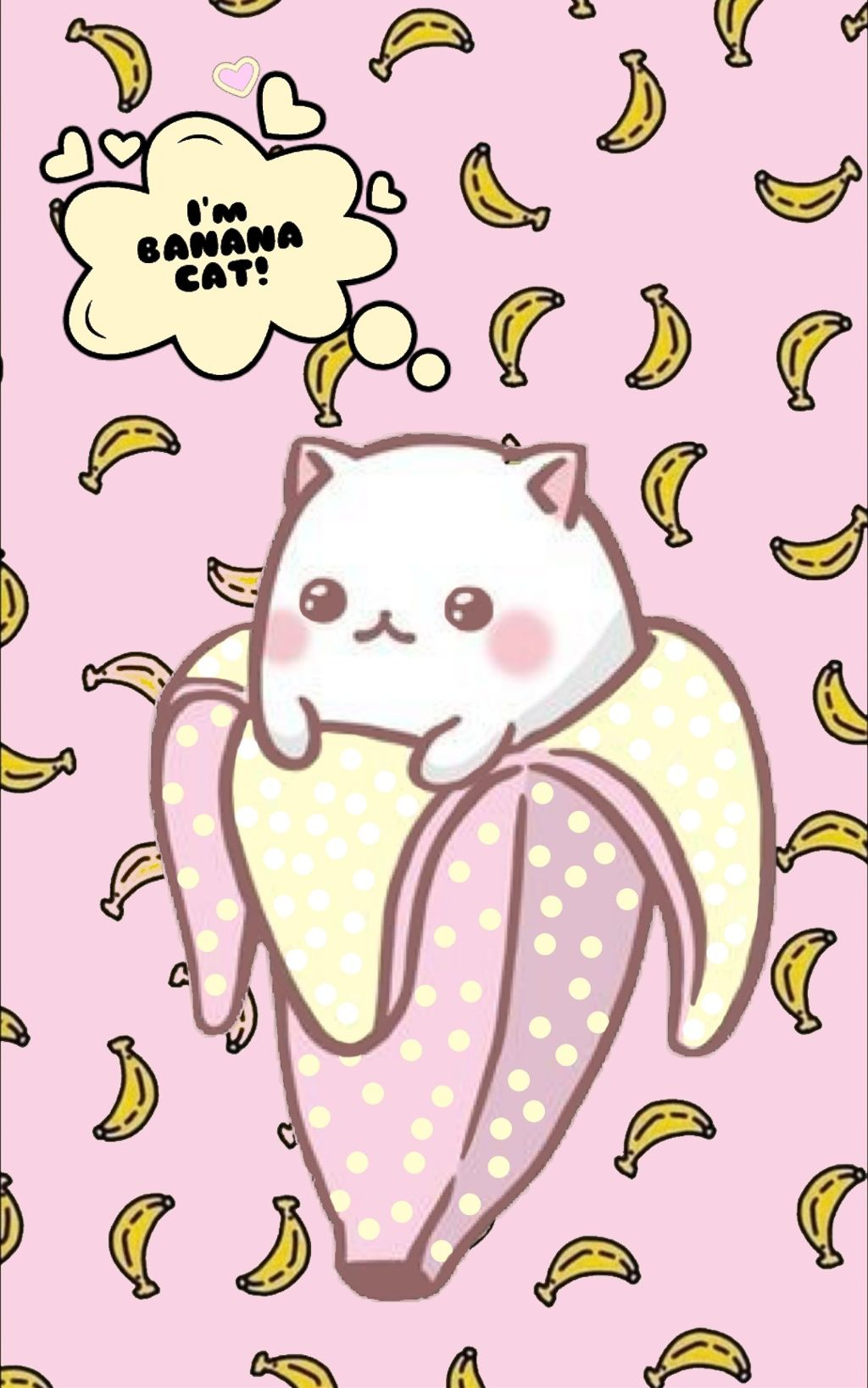Wallpaper Bananacat Banana Cat Kawaii Cute