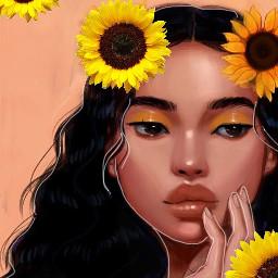 freetoedit sunflower aestheticflowers aesthetic girl