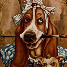 freetoedit popfantasy fantasyart yoga dogs ircyoga