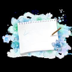 ftestickers flowers notepad paper blank freetoedit