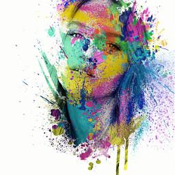 freetoedit splashofcolor beautiful girl portraitphotography