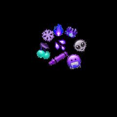 purple sunflower snowflakes emojis cluster freetoedit