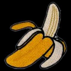 banana yellow aesthetic retro fruit freetoedit