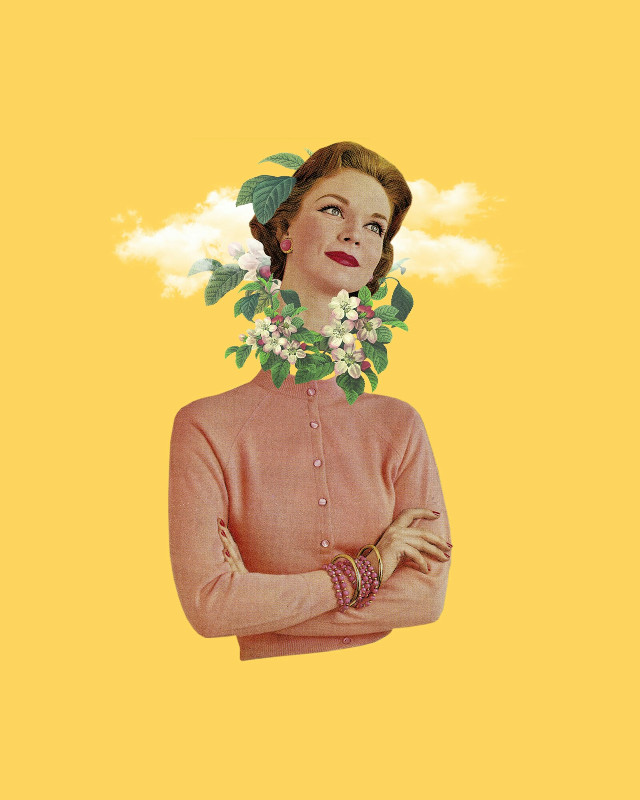 Lost cause. #collage #collageartist #collageart #woman #nature #plants #surreal
