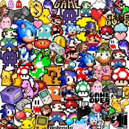 freetoedit pixel 8bit supermario sonic