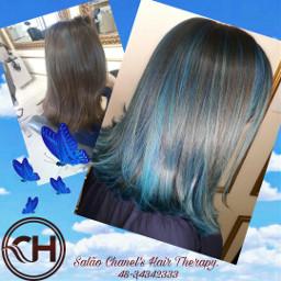 cabelocolorido cabelosdediva cabelos cabelosaudavel cabeloazul freetoedit