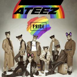 freetoedit ateez kpop kcon pride