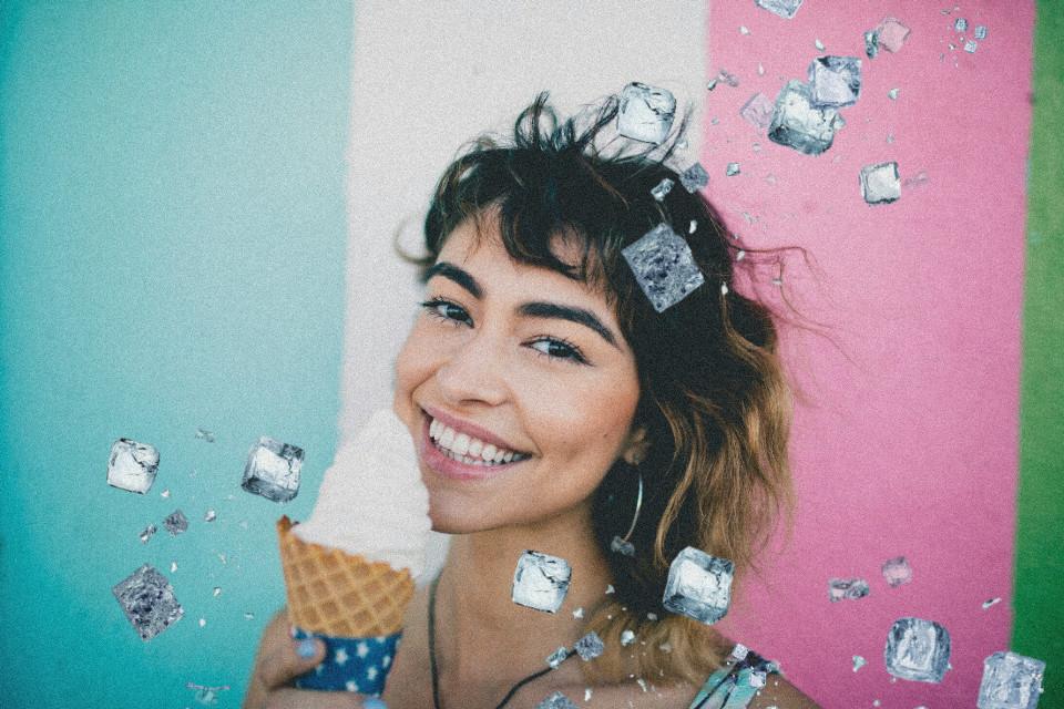 #freetoedit#icecube#brush#icecream#girl