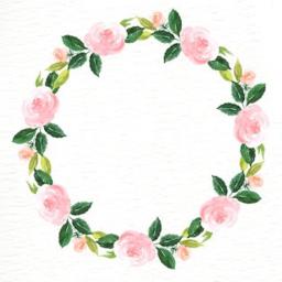 wreath floralwreath flowers watercolor pink freetoedit