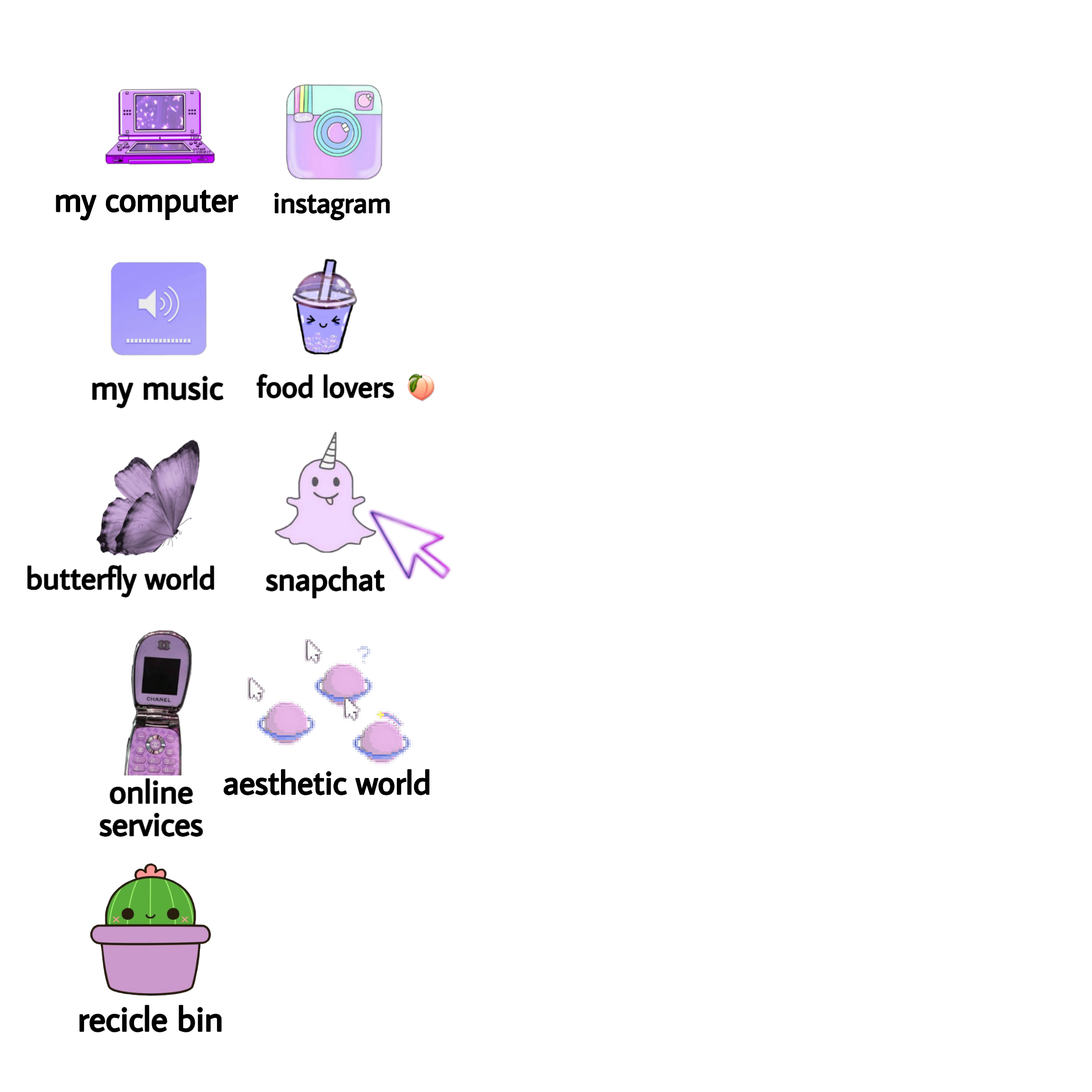 pastel icons instagram aesthetic windows