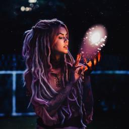freetoedit magic purple etheral woman