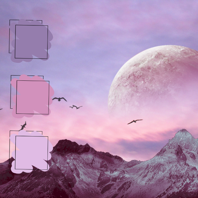 #color #mountain #pallete #pink #purple
