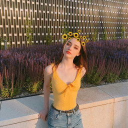 freetoedit sunflowercrown crown emojicrown creative