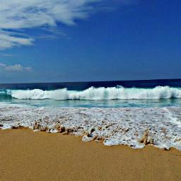 myphoto sea island clouds sand pcfoam pcshadesofblue freetoedit