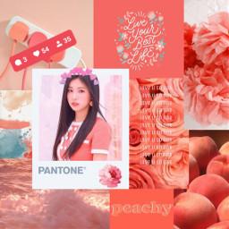 hyewon izone beautiful coral aesthetic freetoedit
