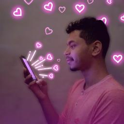 boatarde goodafternoon neon love notification freetoedit