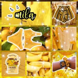 freetoedit yellow tonymoly facemask shorts scrunchie scrunchies