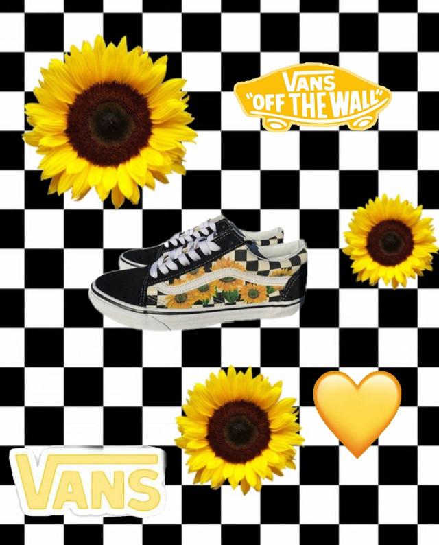 #vans #aesthetic #shoes #yellow #checkerd #sunflower