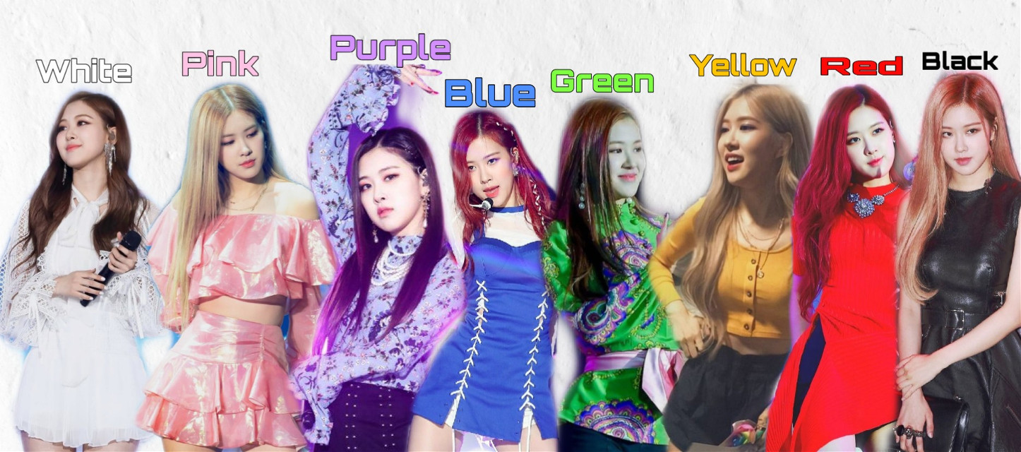 #parkchaeyoung #blackpink #blink #white #pink #purple #blue #green #yellow #red #black