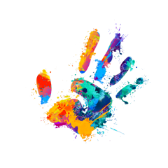 ftestickers hand handprint paint colorful freetoedit