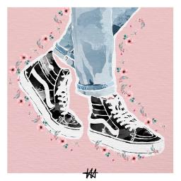 freetoedit shoes drawing aestheticfeel