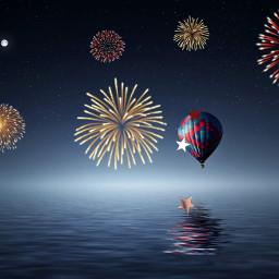 4thofjuly water summer ballon sky