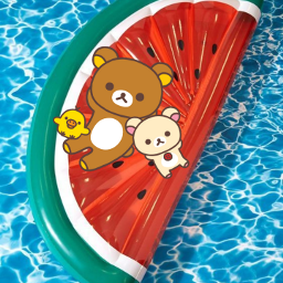 freetoedit watermelon beach waterblue verano ecrelaxwithrilakkuma