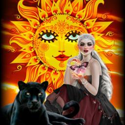 freetoedit 68 sun woman panther srcflirtatiouseyes