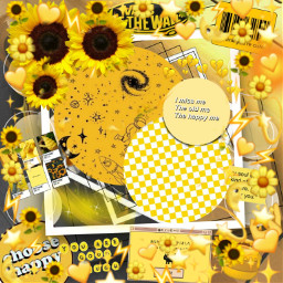 freetoedit yellow sunflowersgalore sunflower background