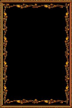 frame ornate gold golden vintage freetoedit