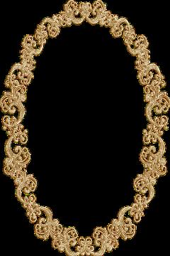 frame oval ornate vintage gold freetoedit
