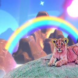 freetoedit lion rainbow irckingofthejungle kingofthejungle