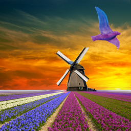 nature landscape windmill holland meadow freetoedit