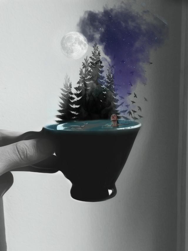 #freetoedit #teacup #picsart #surreal #Aesthetic #irccoffeetime #coffee