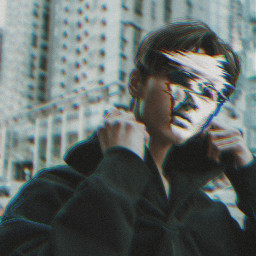 freetoedit boy glitch defectiveface ftstickers