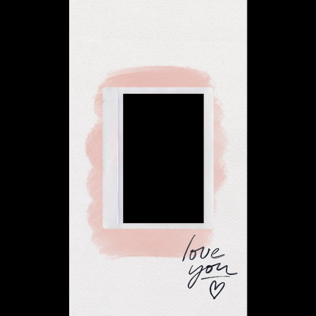 #love #polaroid #polaroidframe #template #instastory #instagram #pink #paint #frame #art
