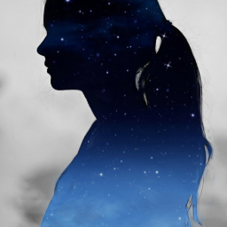 freetoedit girl dreaming midnight silhouette